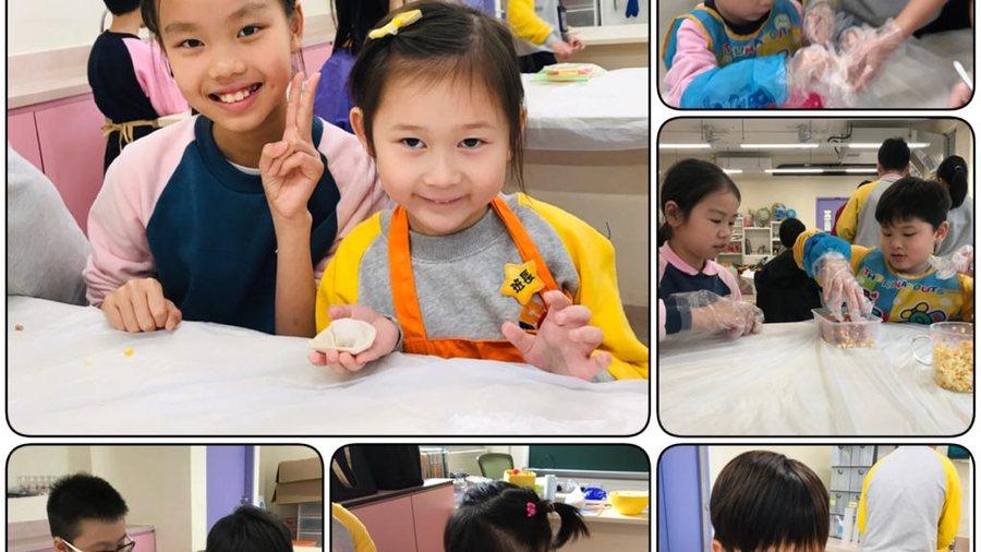 高年班同學教kidchen研究所成員包餃子