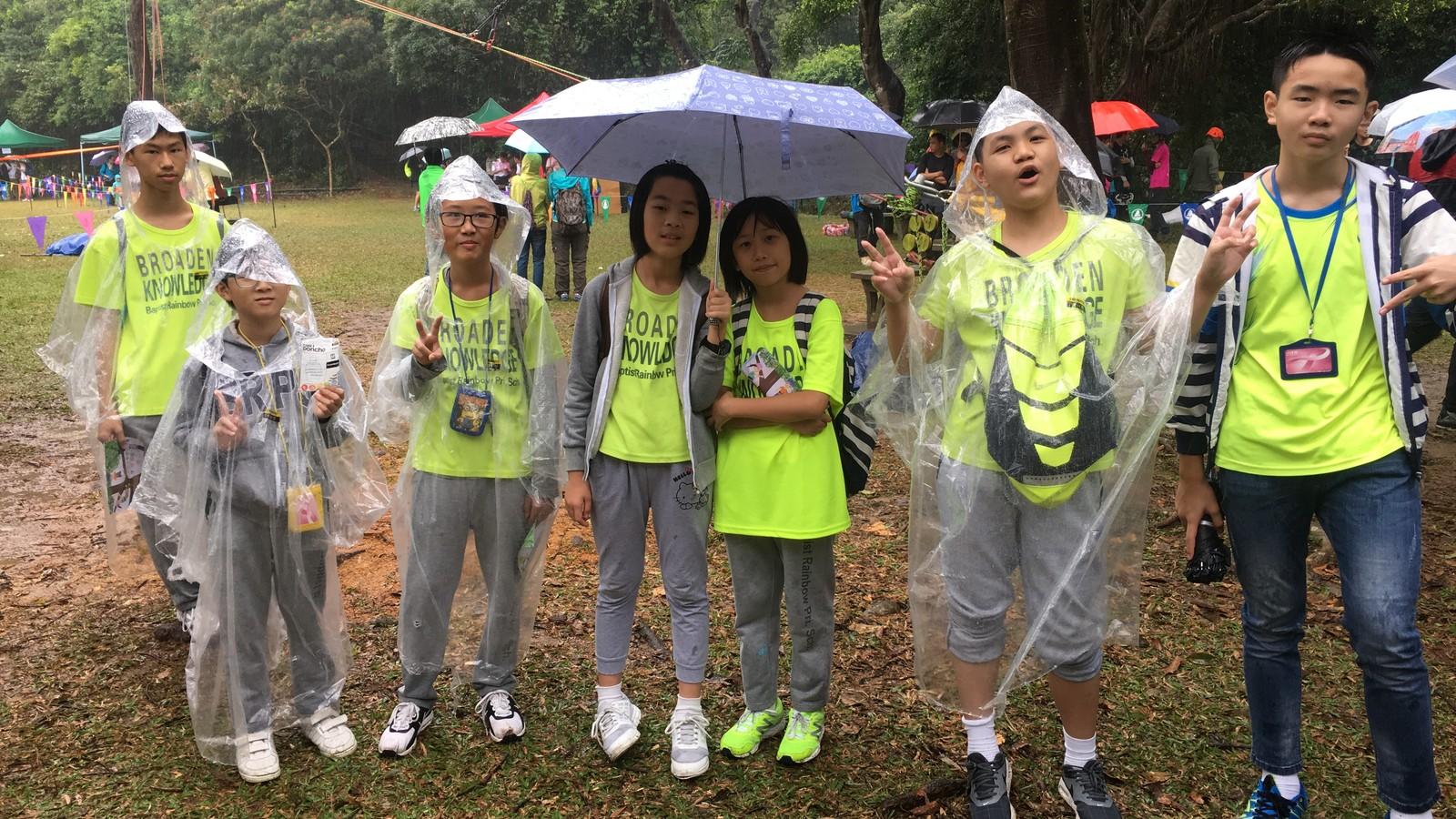 Dreamstarter F3組及E27組同學冒大雨到城門郊野公園參加「識樹遊藝日」