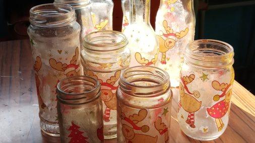 環保小手工2:拼貼玻璃瓶