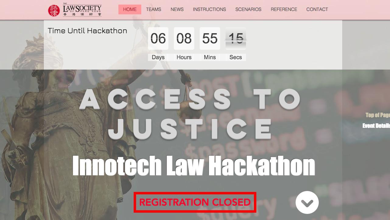 Legit entered final round of A2J Hackathon