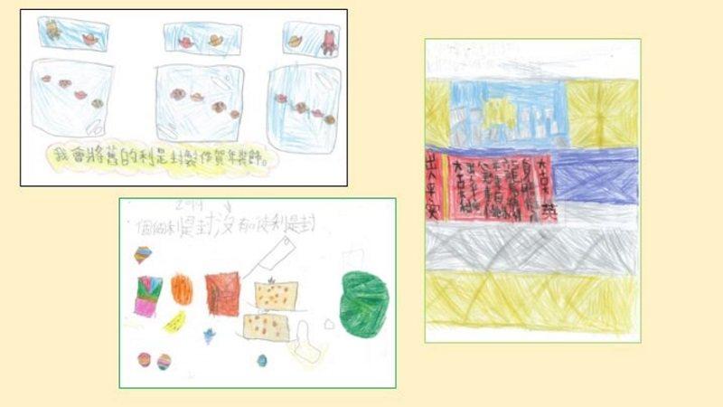 學生們設計的綠色農曆新年海報
