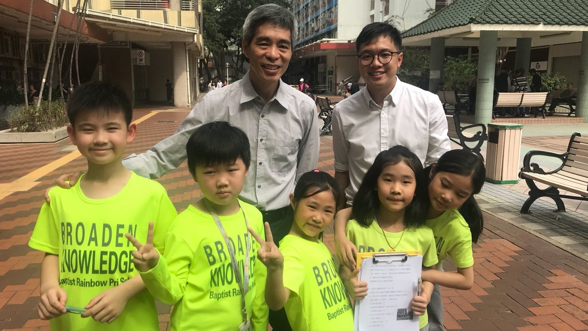 竹園南村街頭訪問  許錦成議員也很支持我們啊!