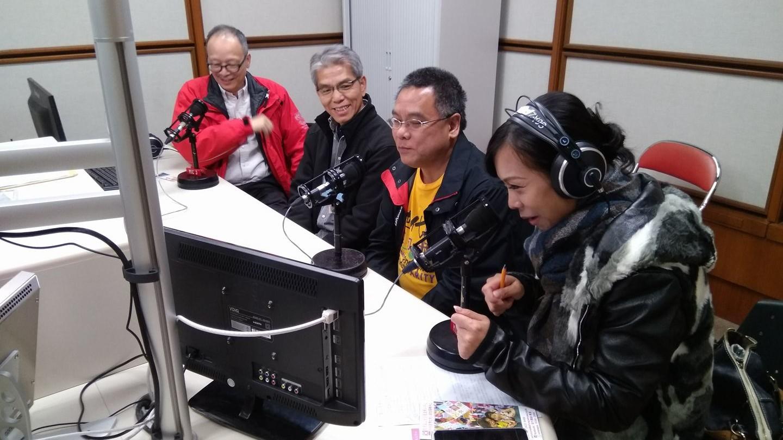接受香港電台第五台的節目「有你同行」訪問