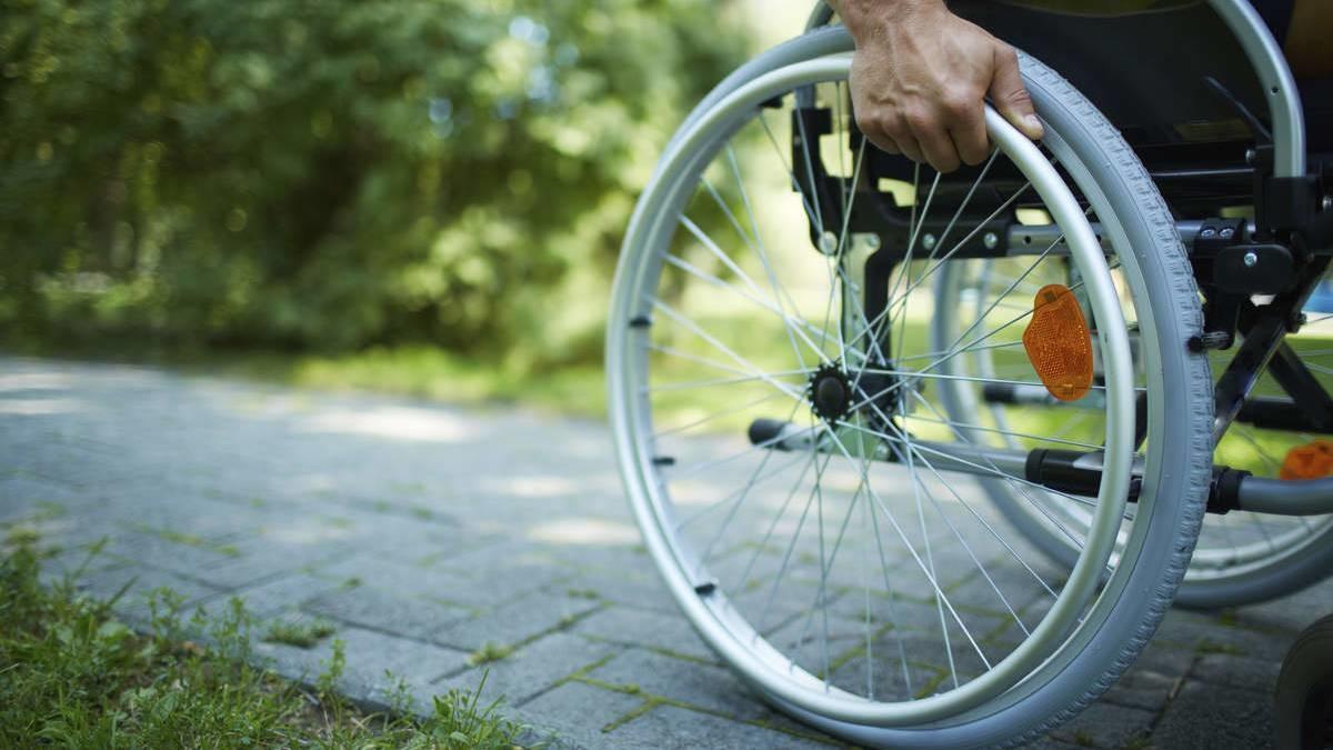 輪椅上的一天