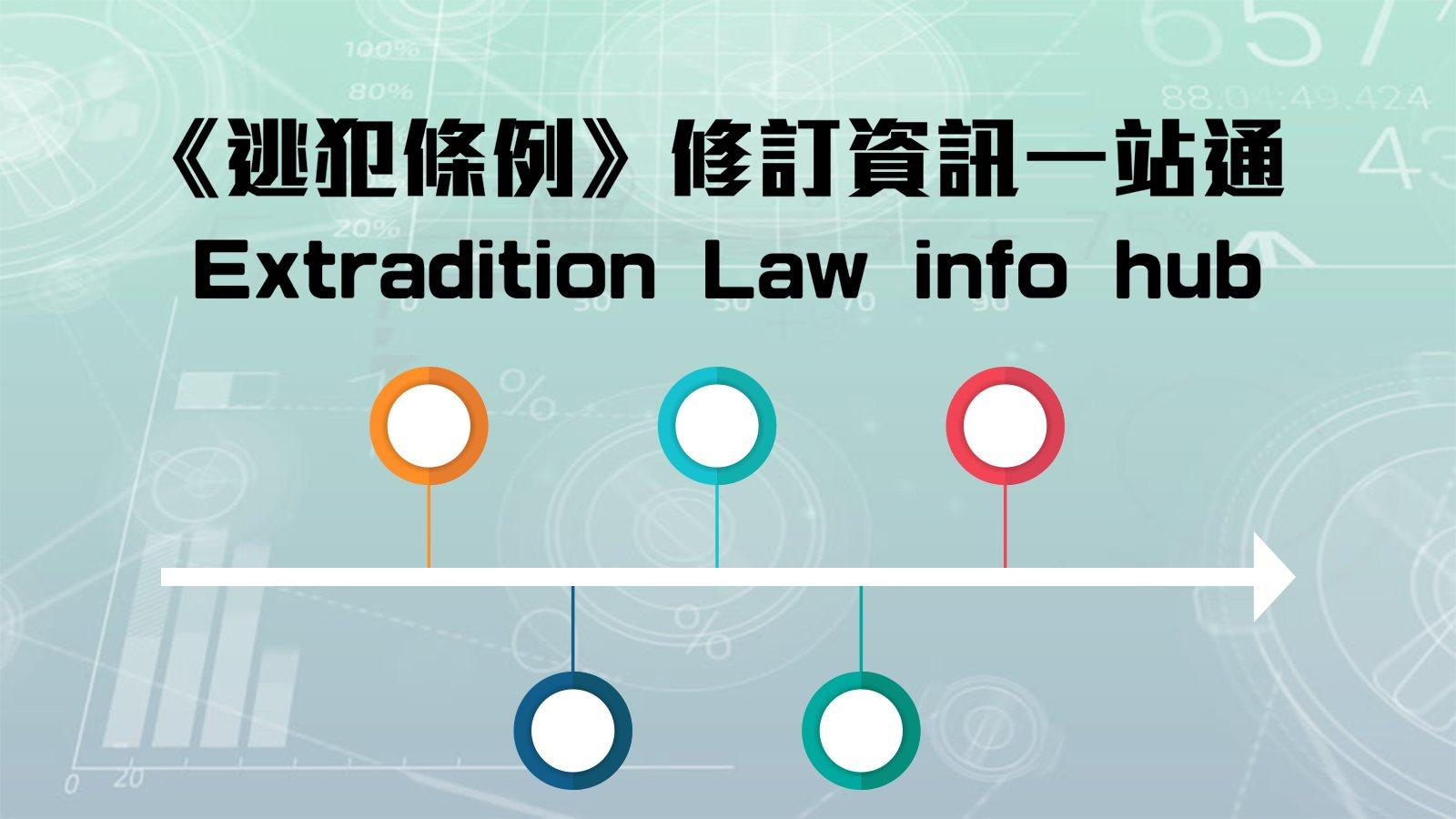 《逃犯條例》修訂資訊一站通 Extradition Law info hub